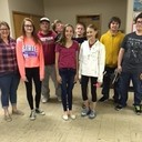 Chelsie Stevens-leader, Isabel Johanns, Evan Paulus, Jack McGuire, Jacob McBride, James Studer, Kruz Sanchez; Front Row: Grace Henrich, Erin Smith